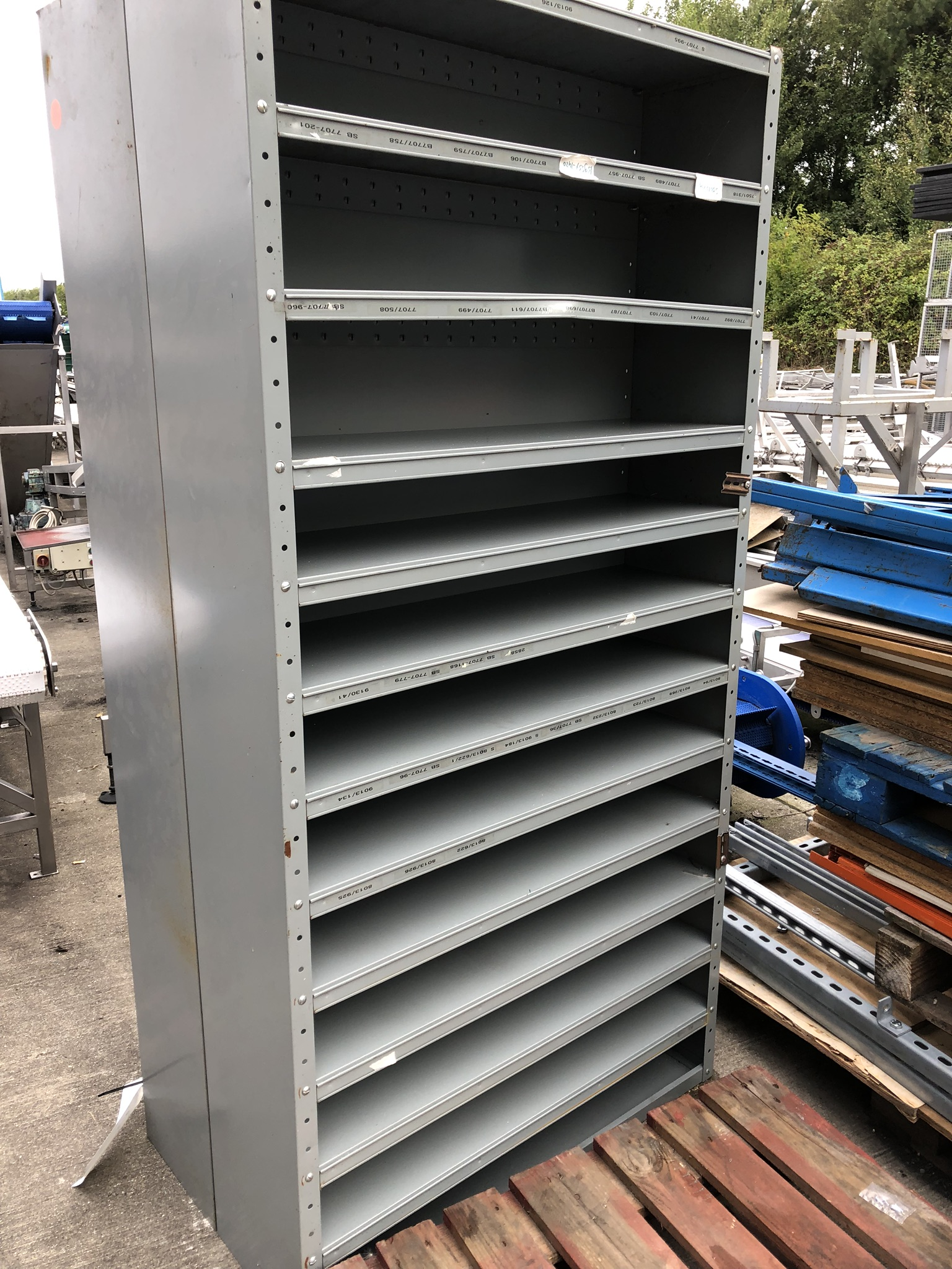 Two Eleven Tier Parts Shelves, 2m x 1m x 0.3m wide, lift out charge - £10 - Image 2 of 2