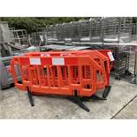 Five Plastic Safety Barriers, lift out charge - £20
