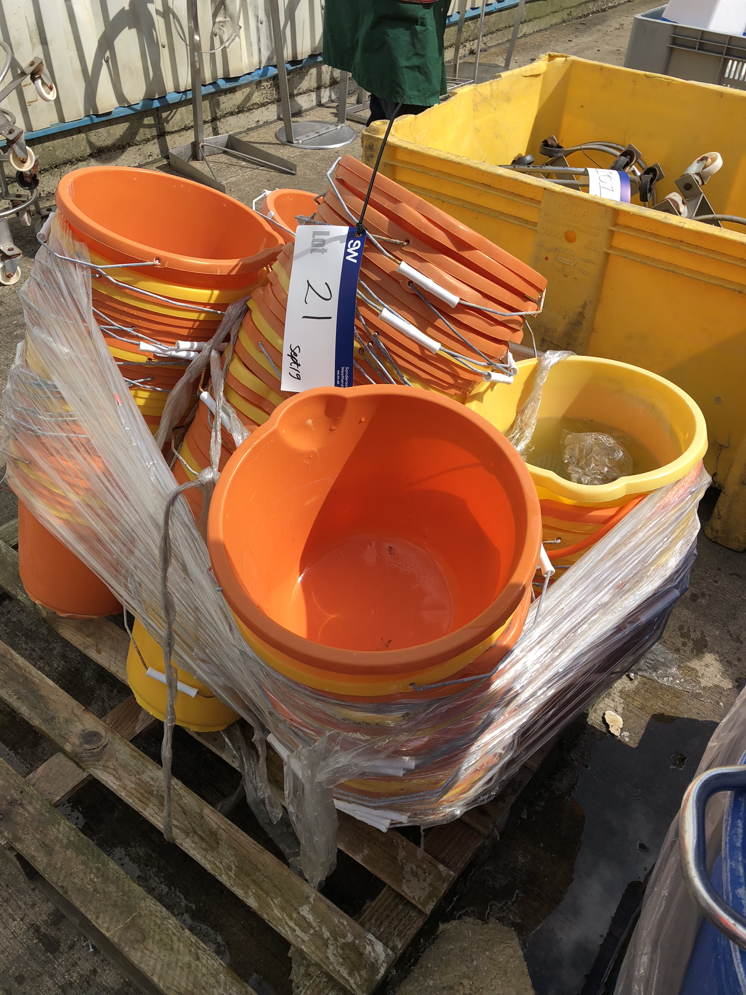 Four Pallets of Plastic Bin Buckets, lift out charge - £50 - Image 3 of 4