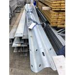 Four Section Galvanised Steel Crash Barrier, approx. 3.5m x 0.31m, lift out charge - £20