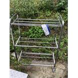 Mobile Three Tier Trolley, approx. 1m x 0.45m x 1.2m high, lift out charge - £10