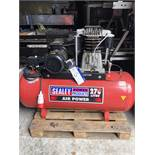 Sealey 270L Receiver Mounted Air Compressor, serial no. 221404956, year of manufacture 2014, approx.