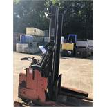 BT LSR 1200/3 1200kg Reach Truck, serial no. 933158, year of manufacture 2000, lift out charge - £