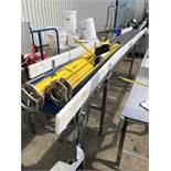 Conveyor, approx. 450mm belt x 5m long x 1m high, lift out charge - £50 (ref no. 14624)