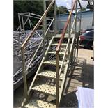 Herbert Seven Step Inspection Stand, approx. 3.4m x 1m wide x 2.5m high and Ladder, lift out
