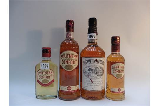4 Assorted Bottles Of Southern Comfort 43 1 Litre 35 70cl 35