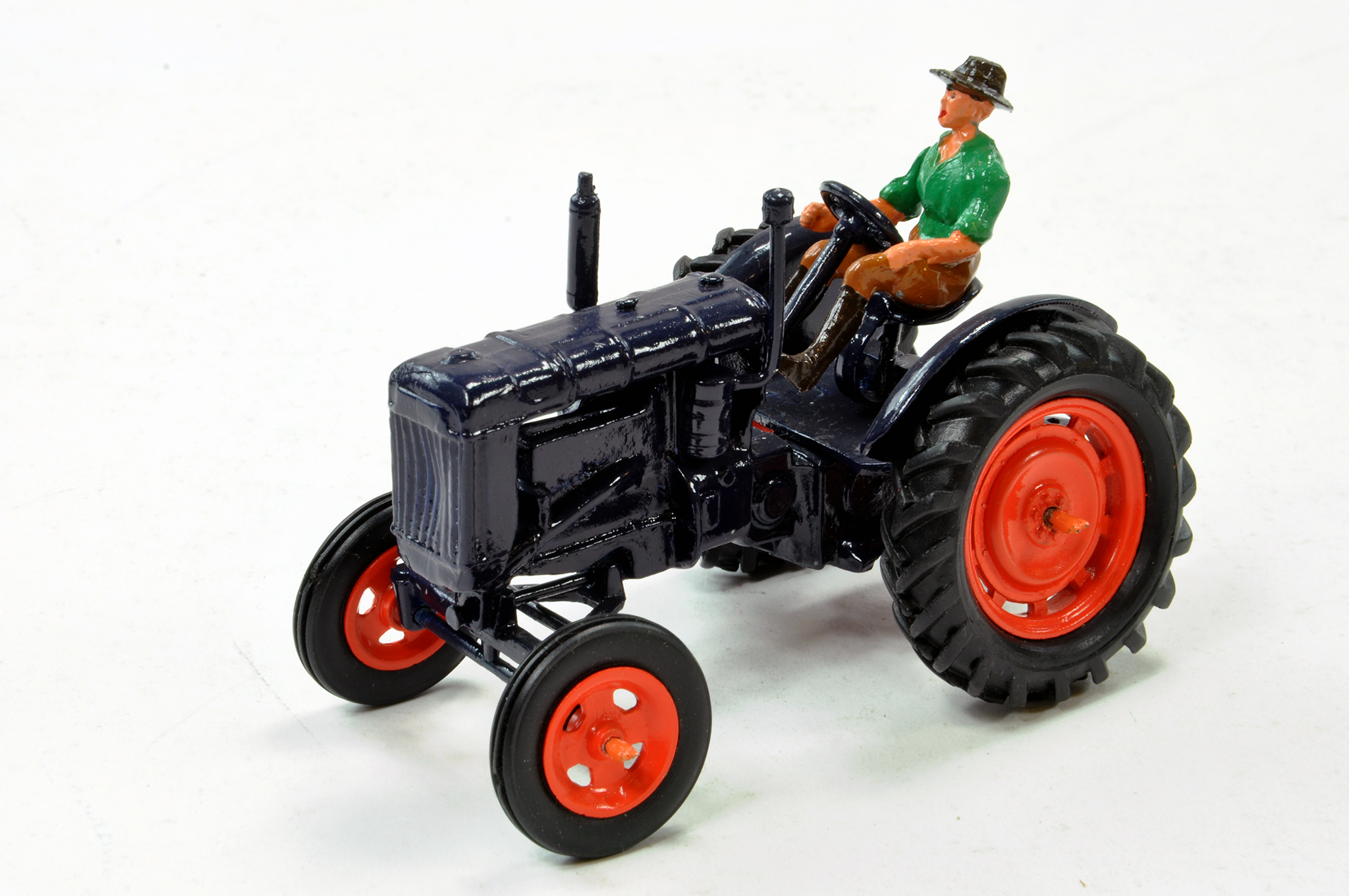 Lot 229 - Britains Recast 1/32 Fordson Major E27N Tractor with Driver. Excellent.