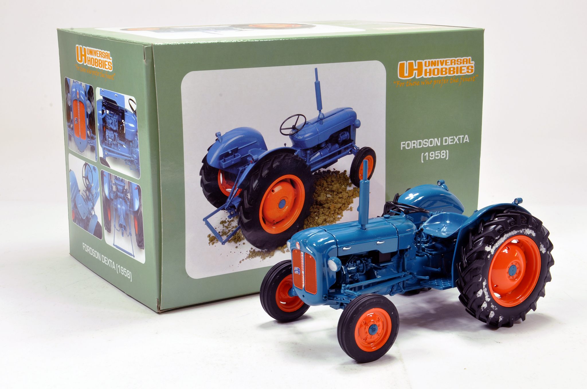Lot 144 - Universal hobbies 1/16 Fordson Dexta Tractor from 1958. Generally excellent in box.