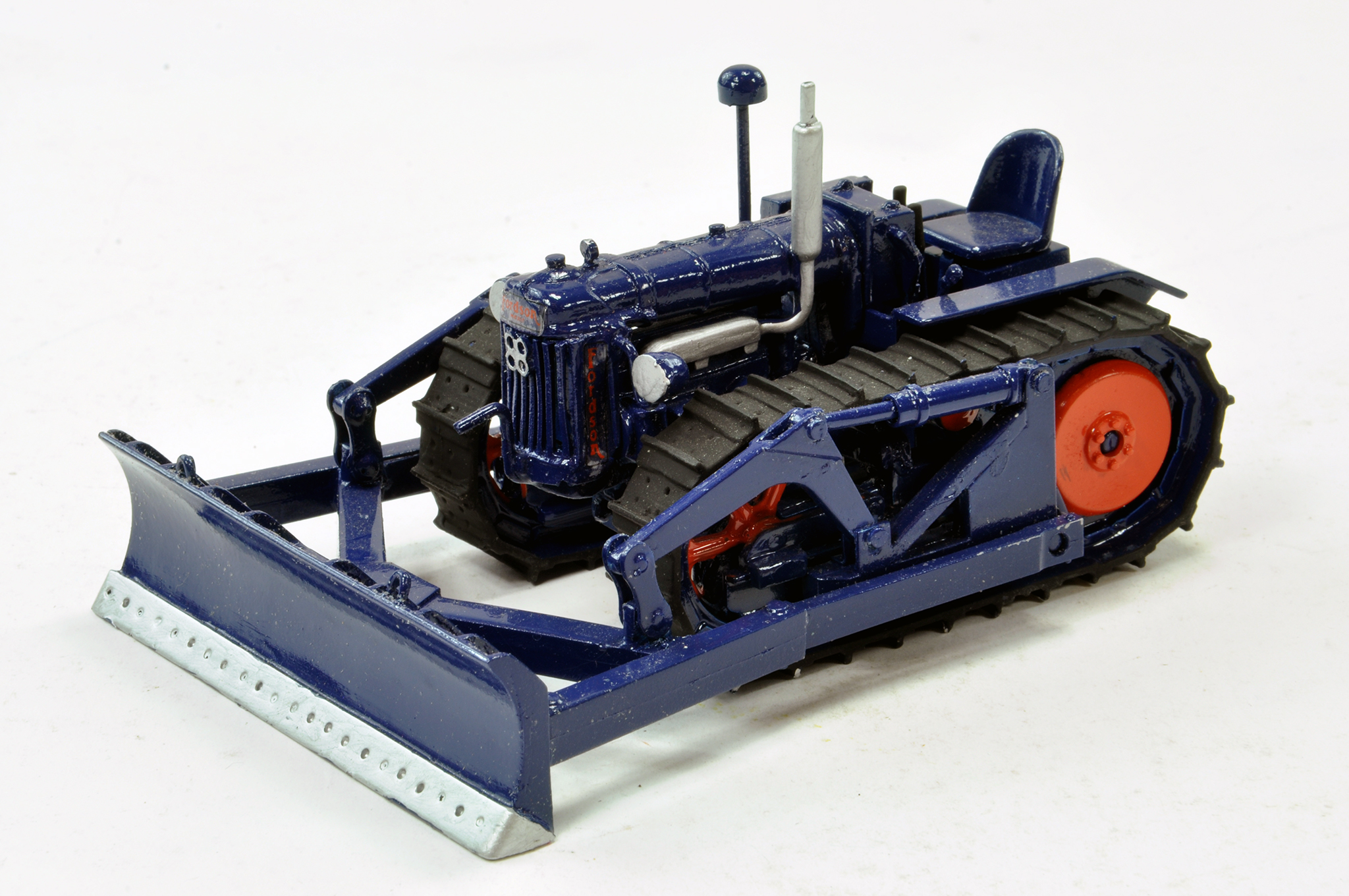 Lot 224 - Hand Built 1/32 Fordson Major E27N P6 Crawler Tractor with Dozer Blade. Superb piece is delicate but
