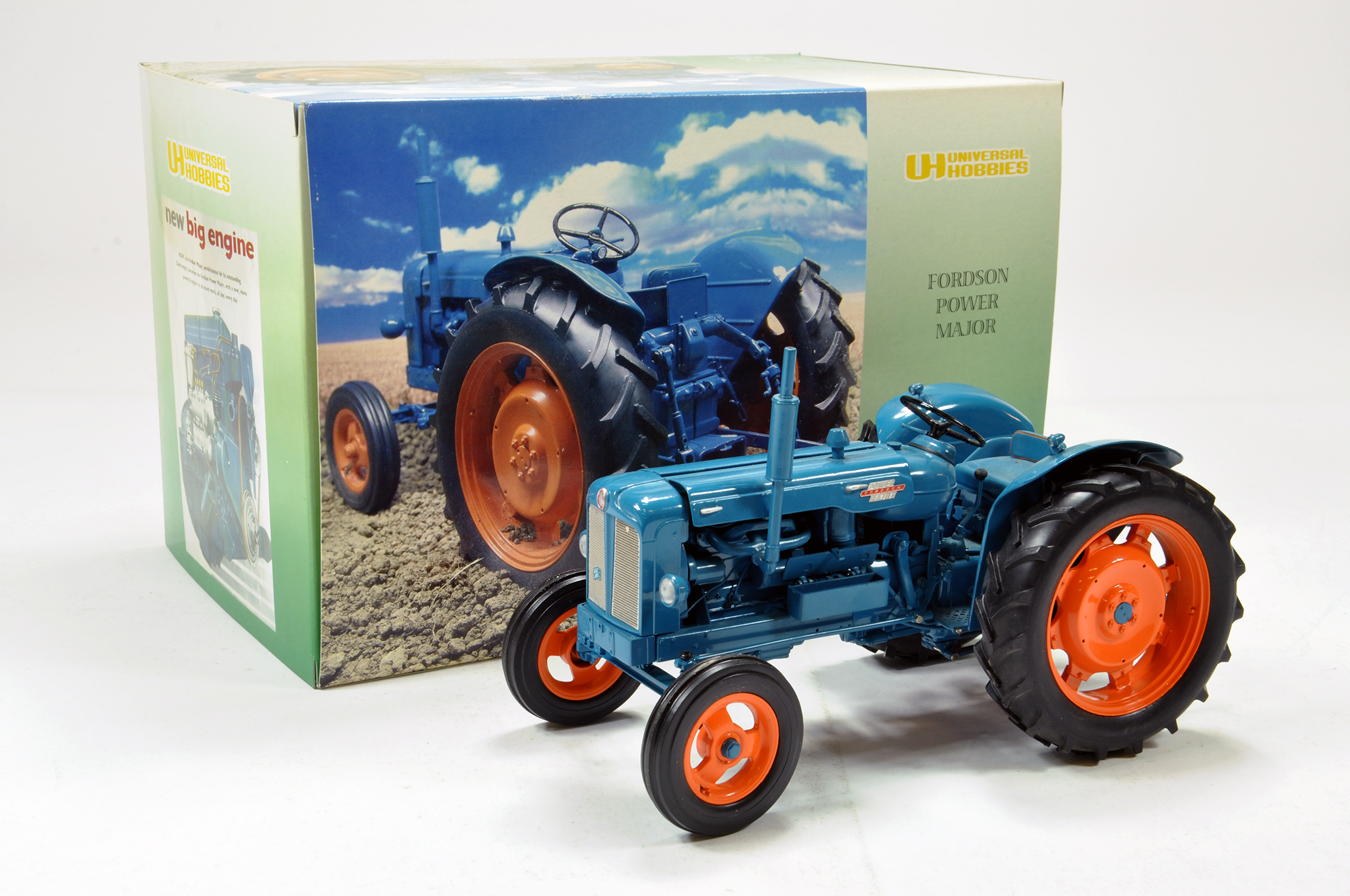 Lot 143 - Universal hobbies 1/16 Fordson power major tractor. Generally excellent in box.