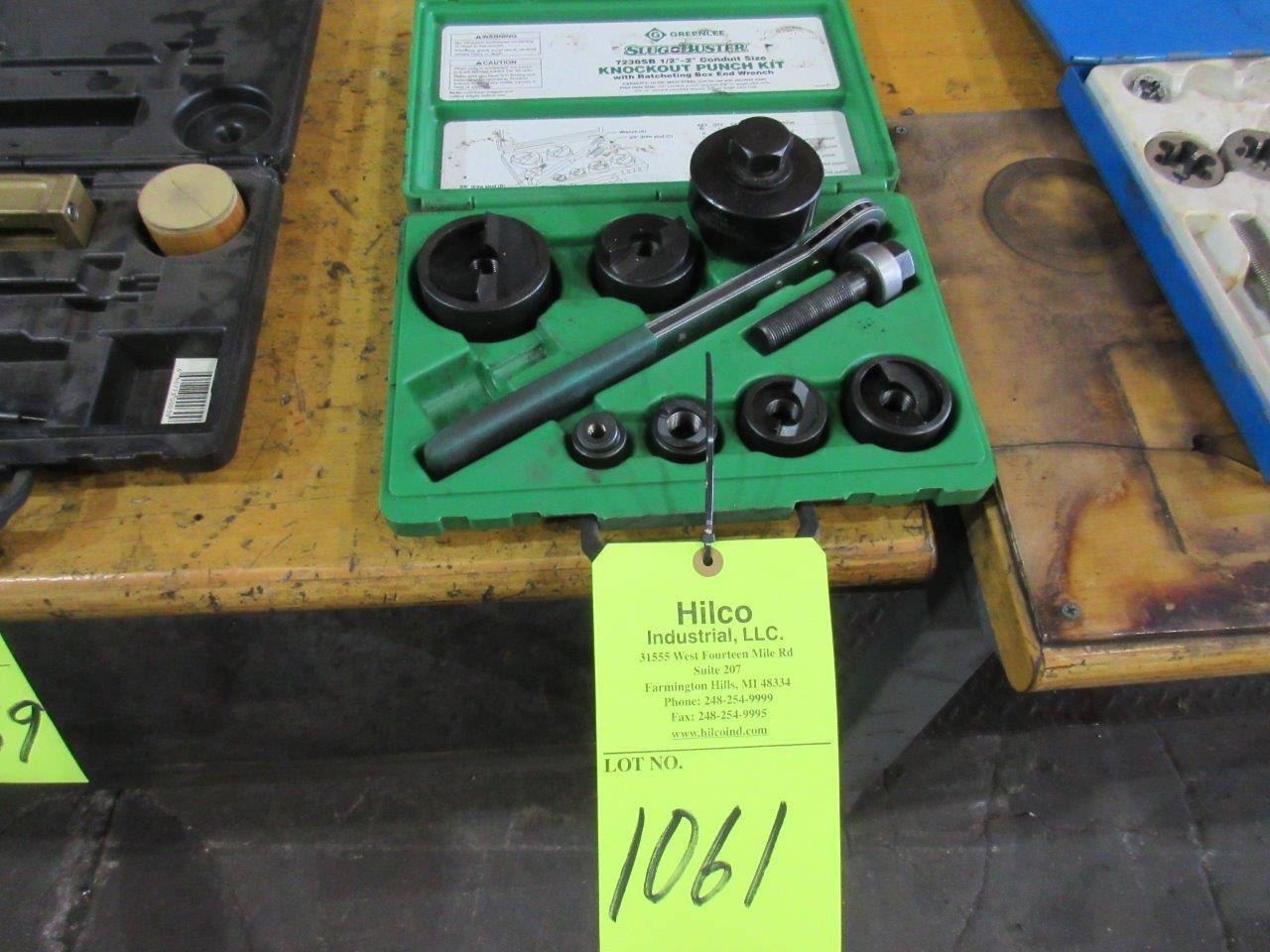 "Greenlee Model 7238SB 1/2"" to 2"" Ratchet Knockout Kit Hand Tools"
