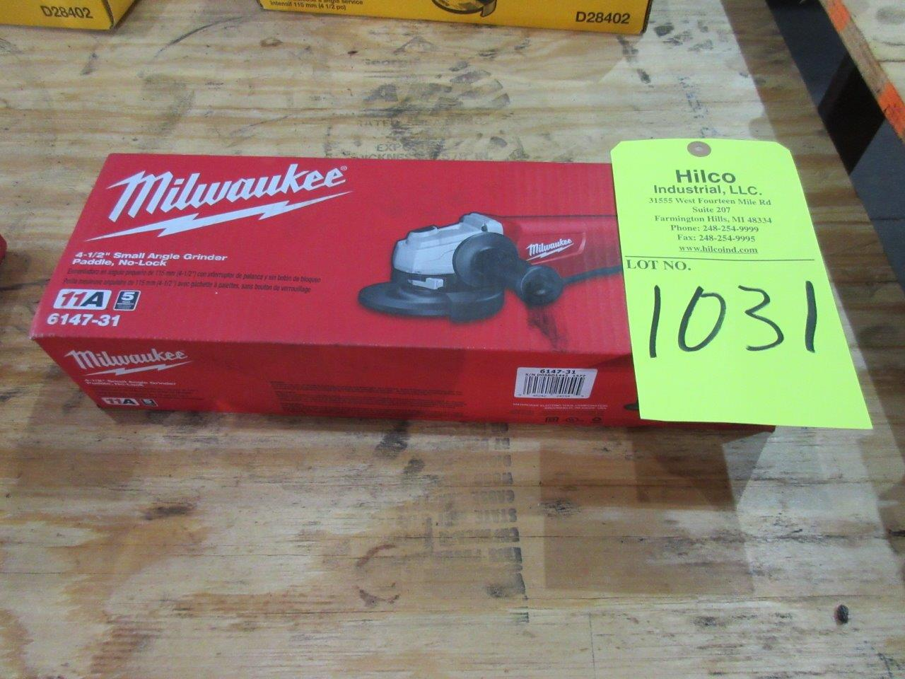 "Lot 1031 - Milwaukee Cat # 6147-30 New 4 1/2"" Angle Grinder"