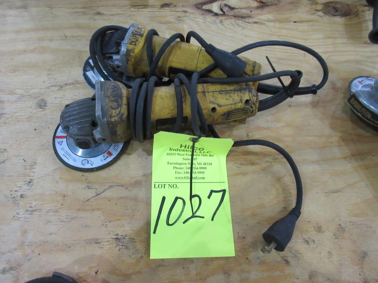 "Lot 1027 - DeWalt Model D28402 4 1/2"" Angle Grinders"