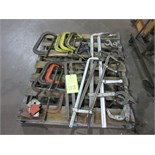 Assorted C-Clamp and Bar Clamp Hand Tools