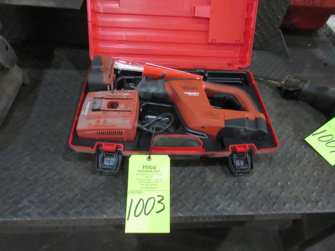 Lot 1003 - Hilti Model WSR 650-A 24 Volt Cordless Reciprocating Saw