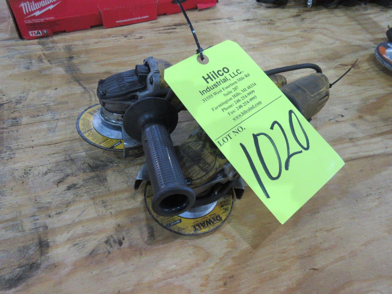 "Lot 1020 - DeWalt Model D28402 4 1/2"" Angle Grinders"