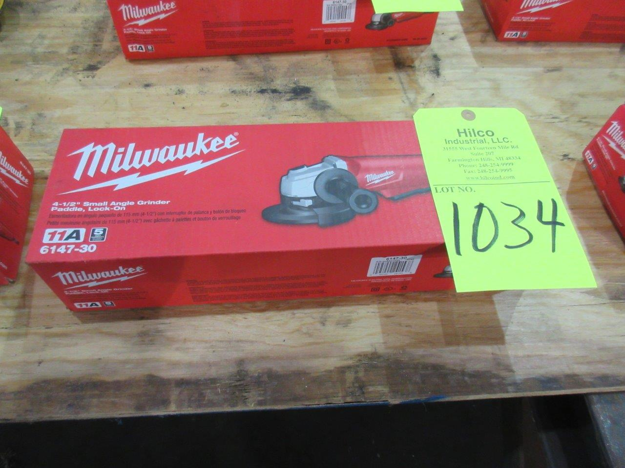 "Milwaukee Cat # 6147-30 New 4 1/2"" Angle Grinder"