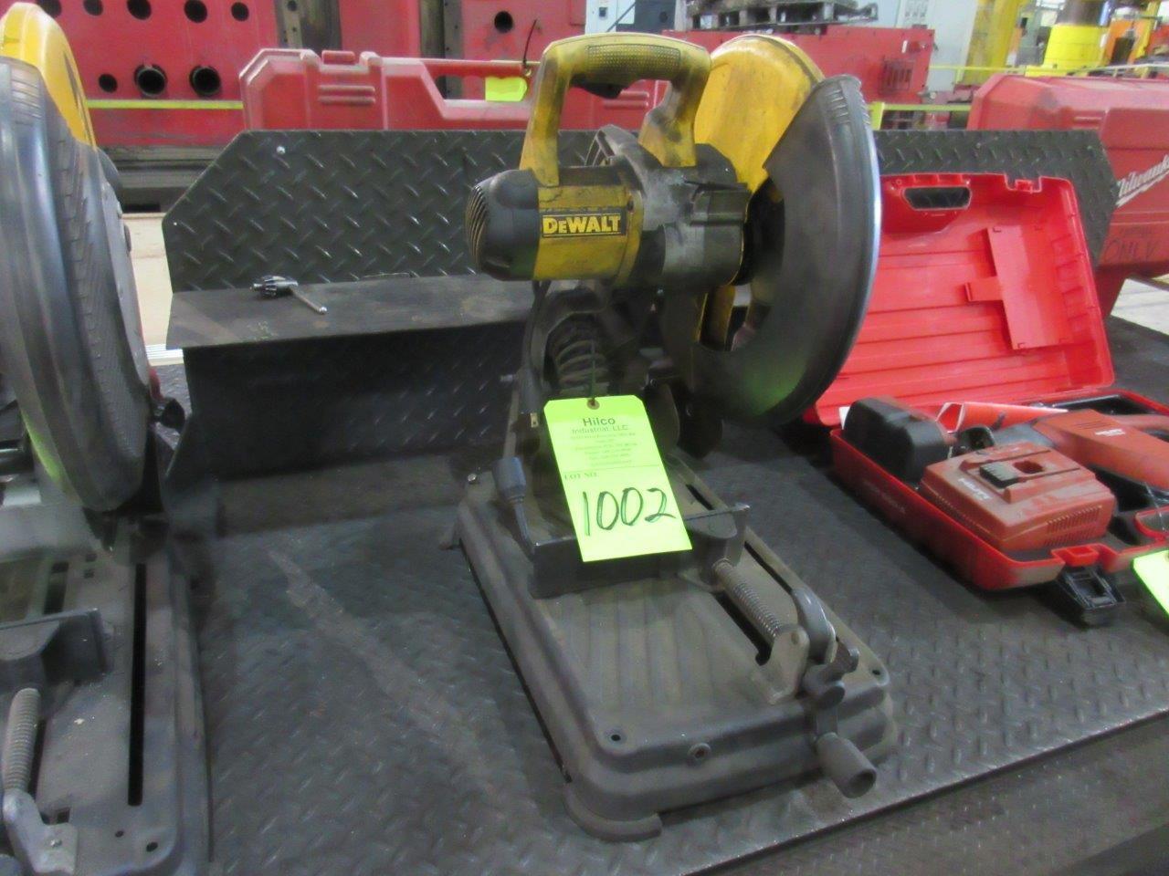 """Lot 1002 - DeWalt Model DW872 14"""" Multi Cutter Chop Saw"""