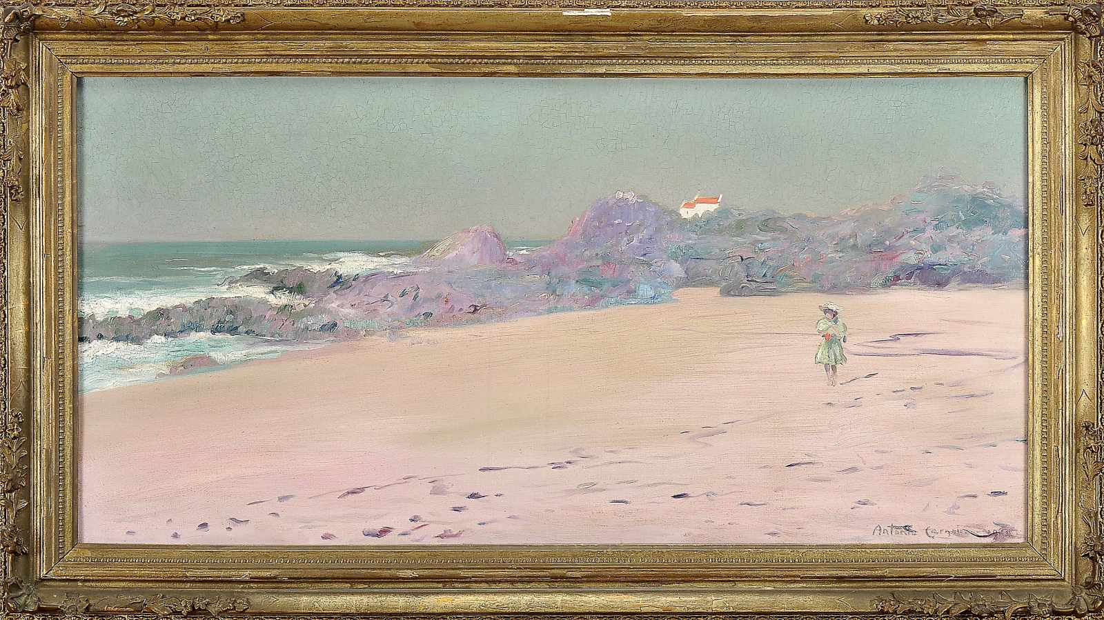 Beach view with figure