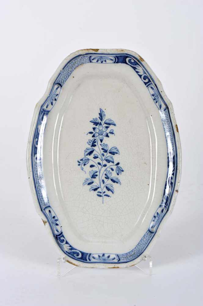A Scalloped Oval Platter