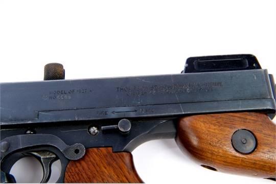 Scarce deactivated Thompson 1927 A1  45 ACP semi-automatic carbine