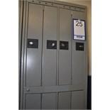 Locker 8 door/Casiers d'employés, 8 portes