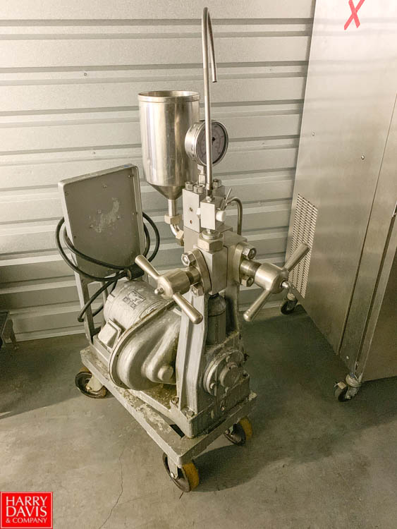 Portable Homogenizer with 17.5 HP Wagner 1,450 RPM Induction Motor **Item Located in Denver,