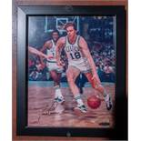 """Dave Cowens Photo, Framed, Signed :Dave Cowens"""" (Holograph #AUE35383)11""""x9"""""""