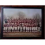 "1960 Patriots Team Photo, Wood Frame, 21""x15.5"""