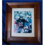 """Tom Brady Wood Framed Photo 13""""x11"""""""