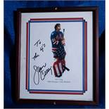 """Jim Craig 1980 Olympic Medalist Photo, Signed """"To the 4""""s, Jim Craig"""" , 11""""x13"""