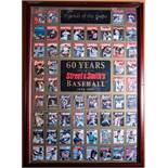 """60 Years Street and Smiths Baseball, 1941-2001 Poster, Wood Framed, 36""""x26"""""""
