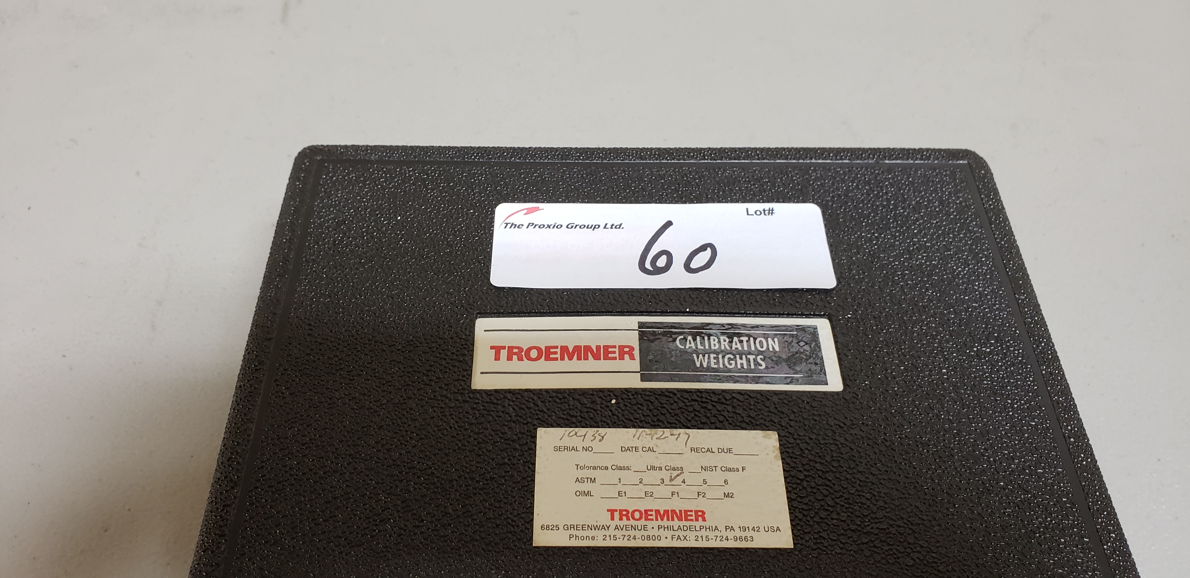 Lot 60 - Troemner 2 Kg Calibration Weight Stainless Steel Test Weight
