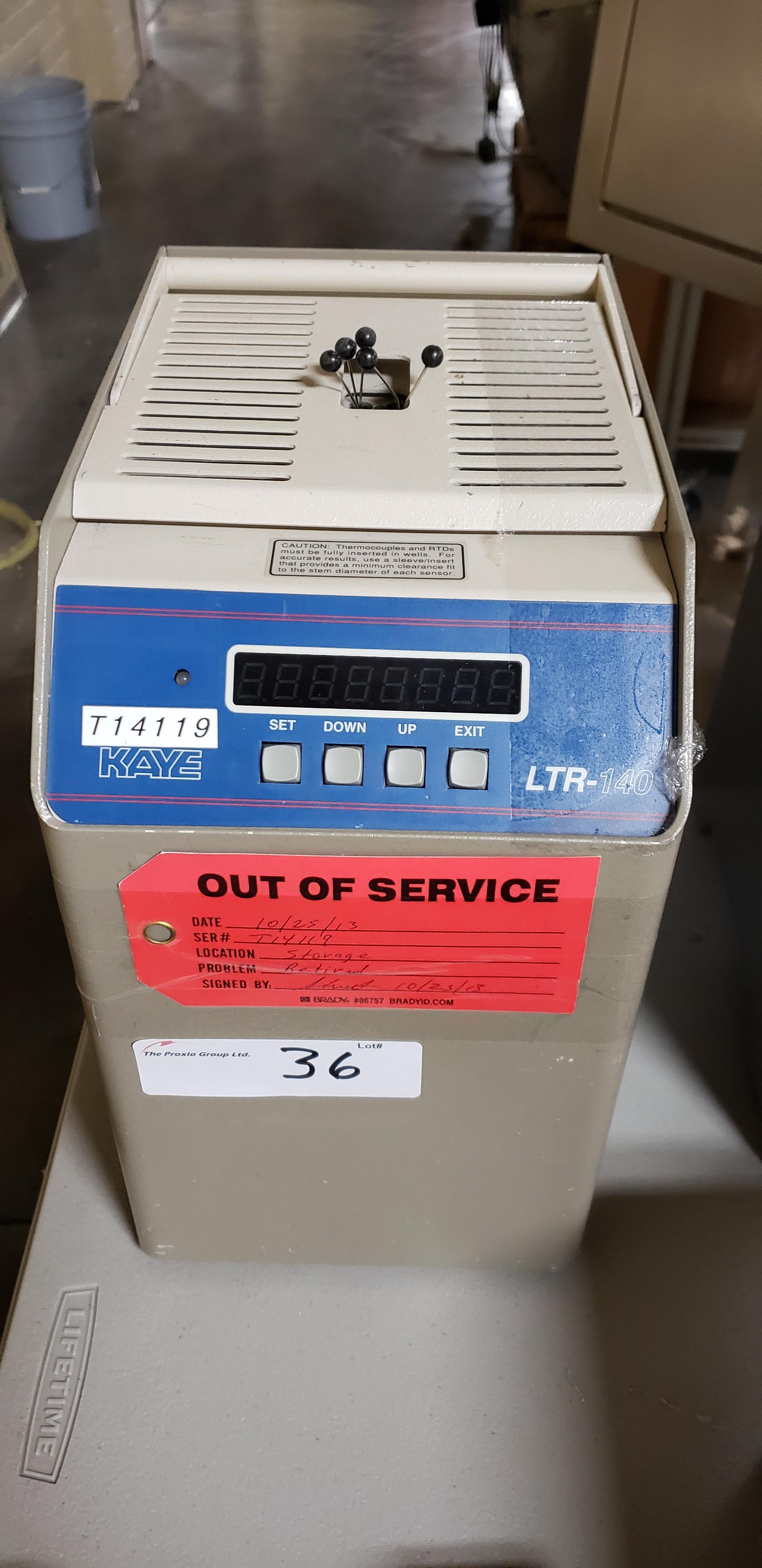 Lot 36 - Kaye LTR-140 Dry Block Calibrator for standard temperature ranges