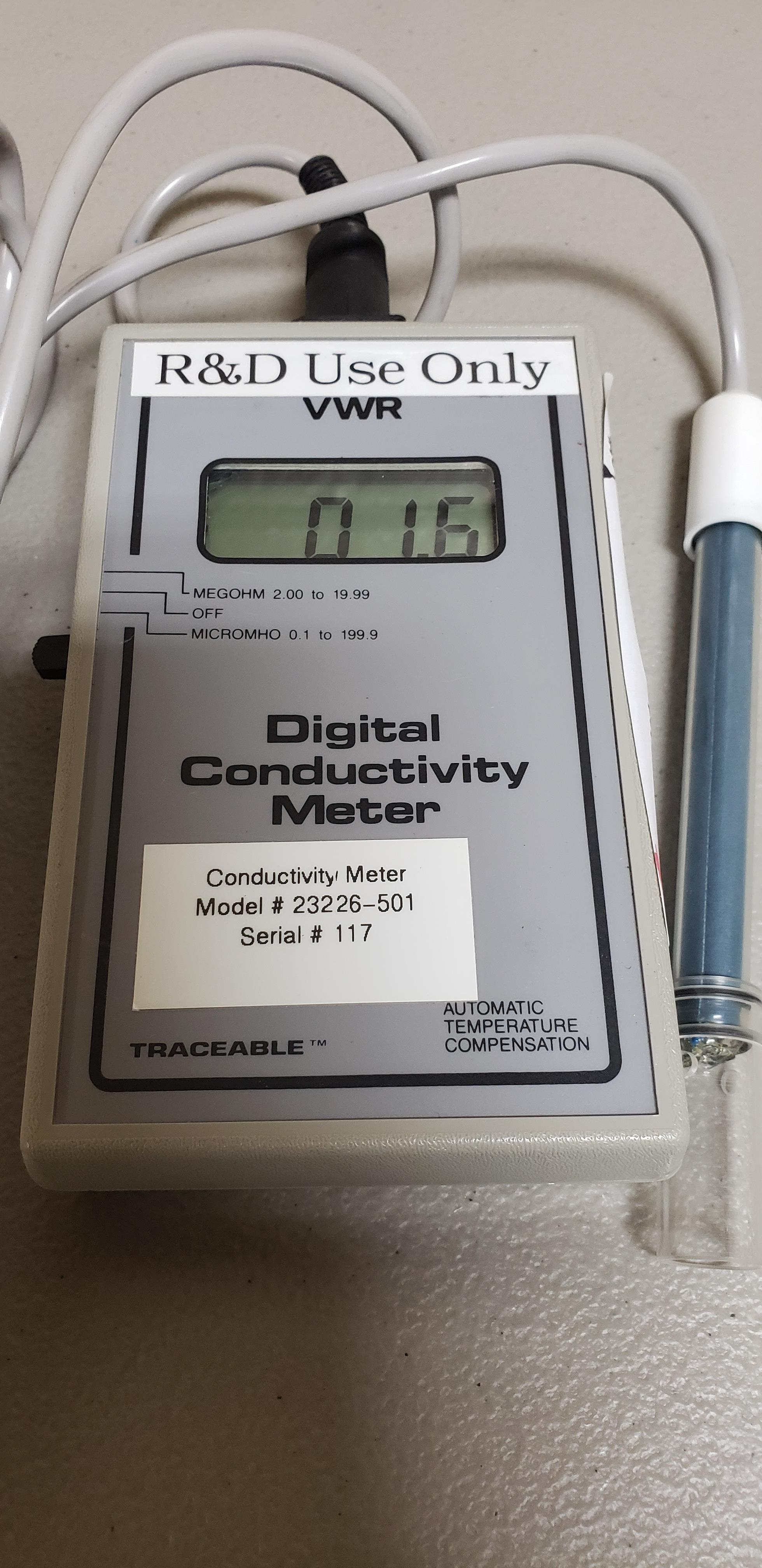 Lot 23 - VWR Digital Conductivity Meter
