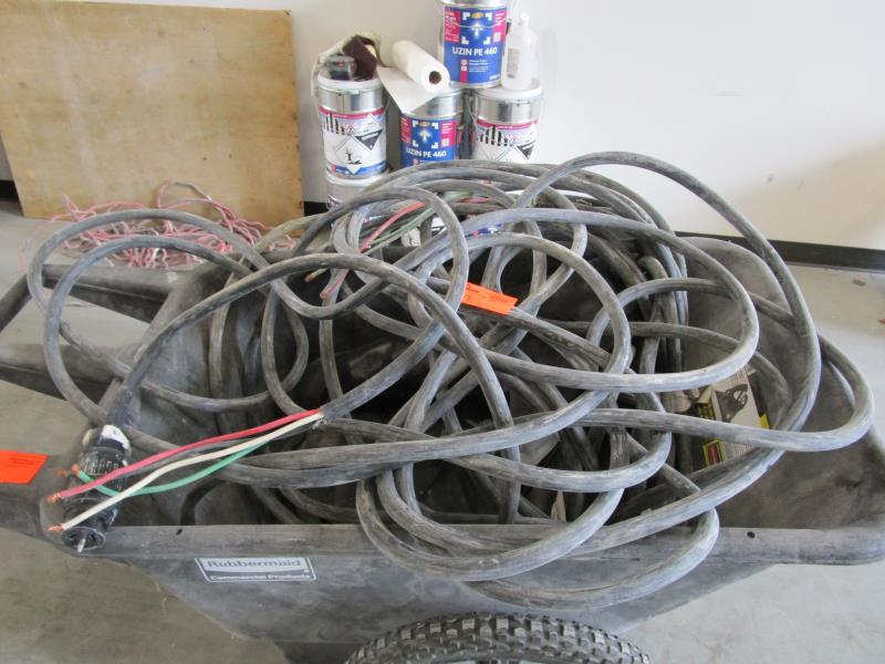 Lot 39 - Lot 2 Heavy Duty Electrical Cords w/ 50AMP 3 Phase Plugs