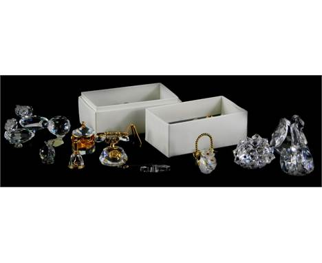 A collection of Swarovski crystal animals, etc., to include two Classics pieces, boxed.