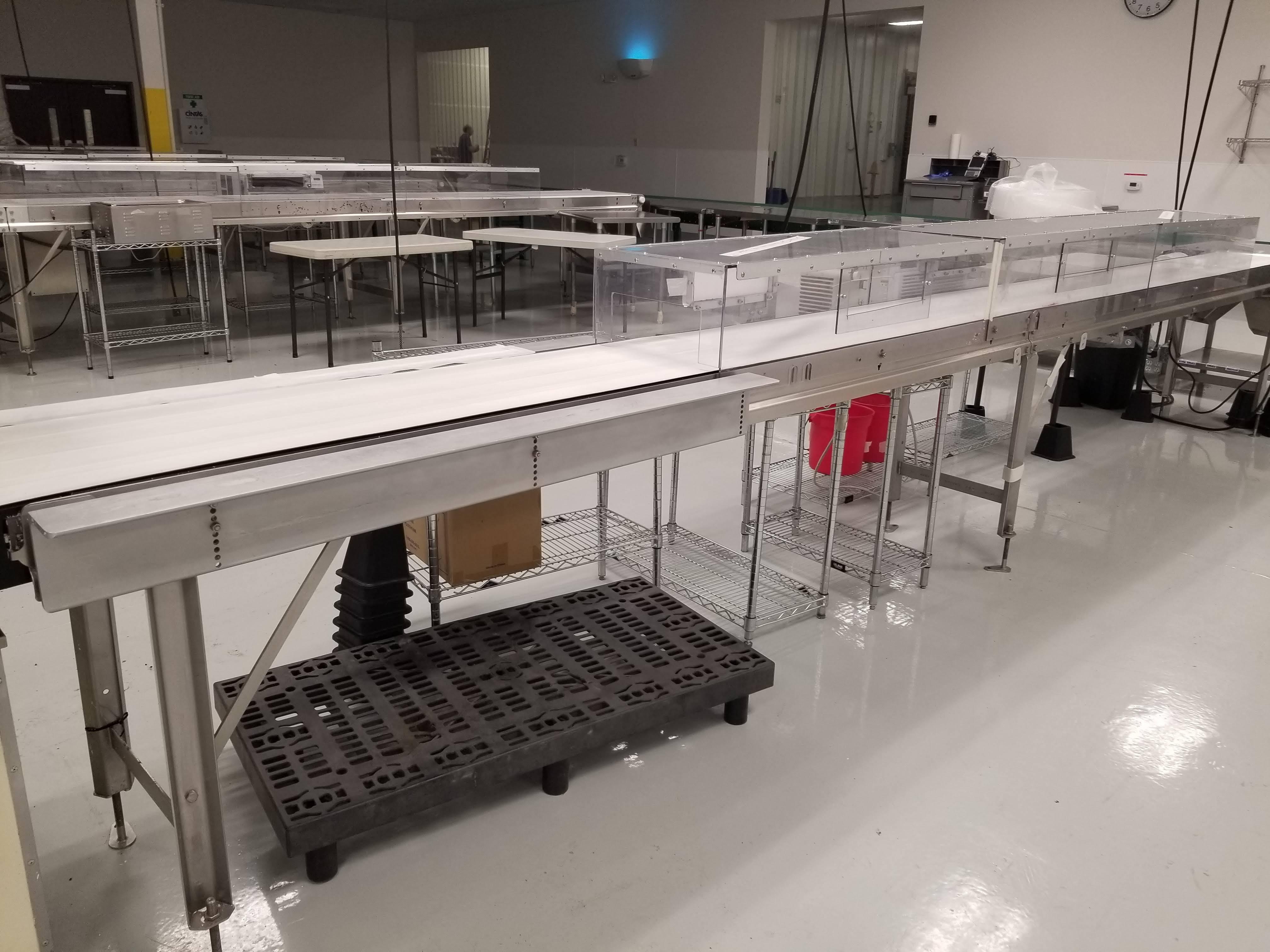 "Lot 21a - Dorner 27"" wide x 26-ft long Ambient Cooling Conveyor"
