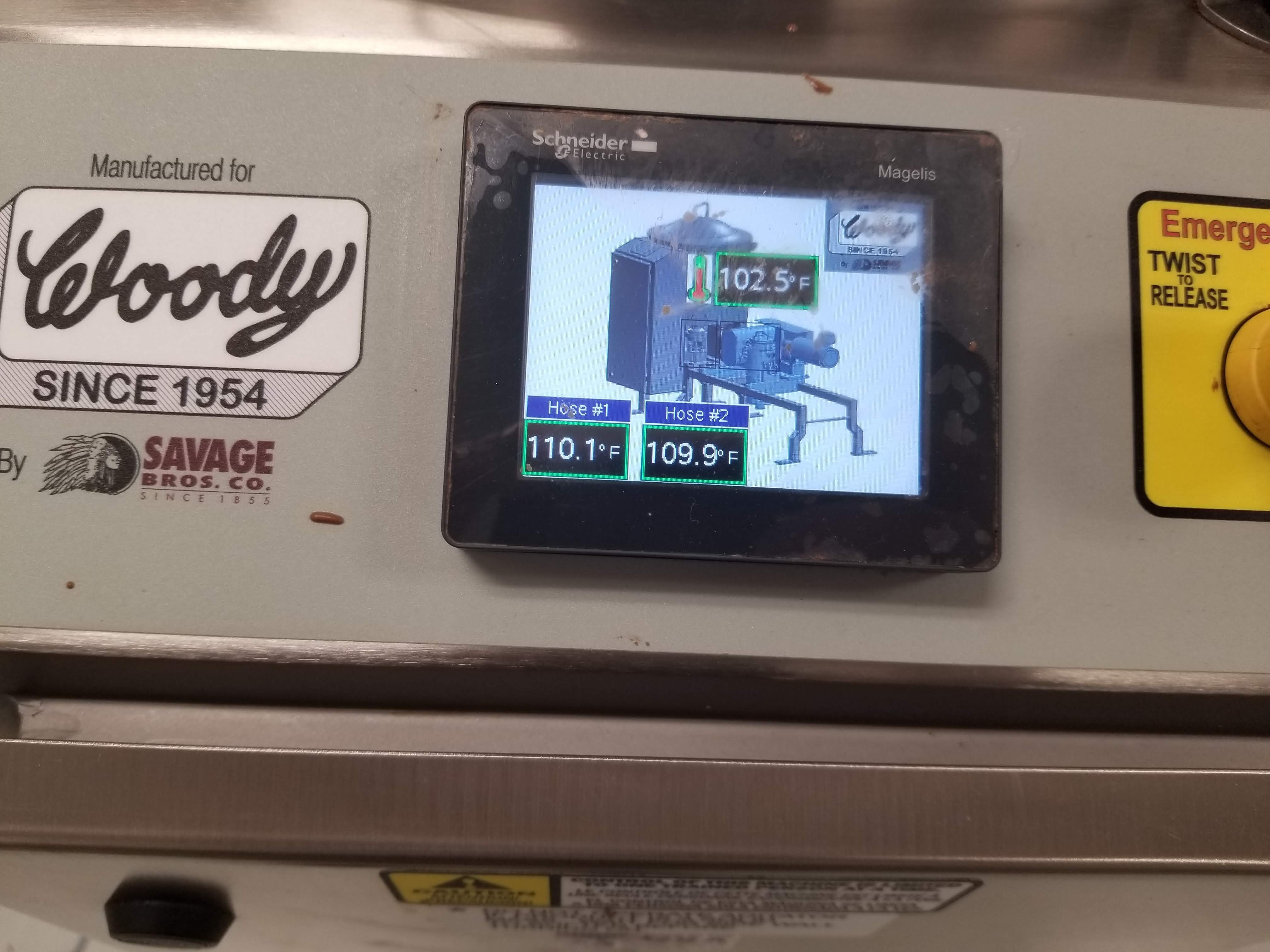 Lot 23 - Savage/Woody 125 lb Stainless Steel Chocolate Melter with Touchscreen controls -Jacketed and