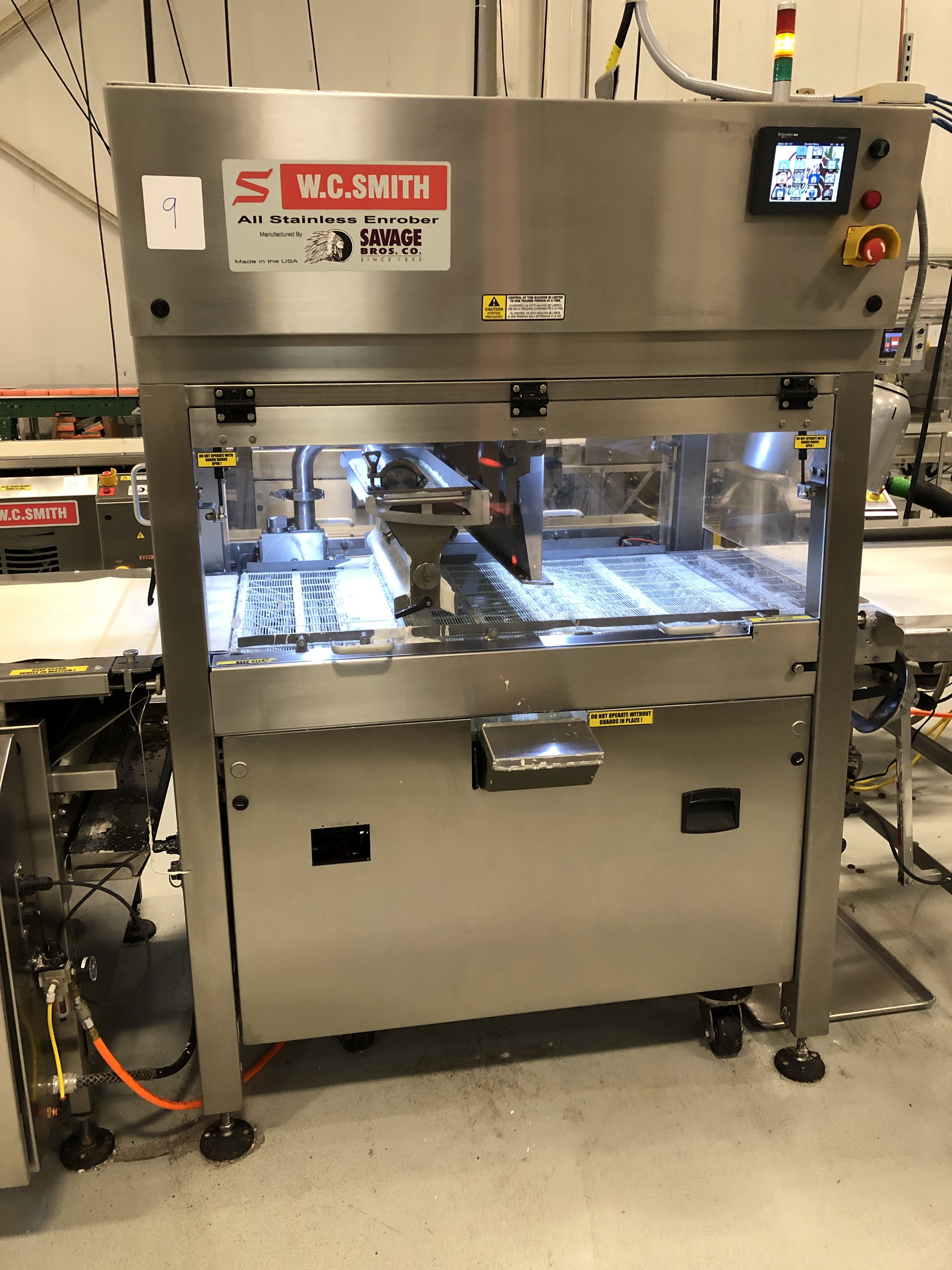 """Lot 7 - Smith 24"""" Stainless Steel Enrobing line – New 2013 - Smith model 5224-49 8-ft long Stainless Steel"""