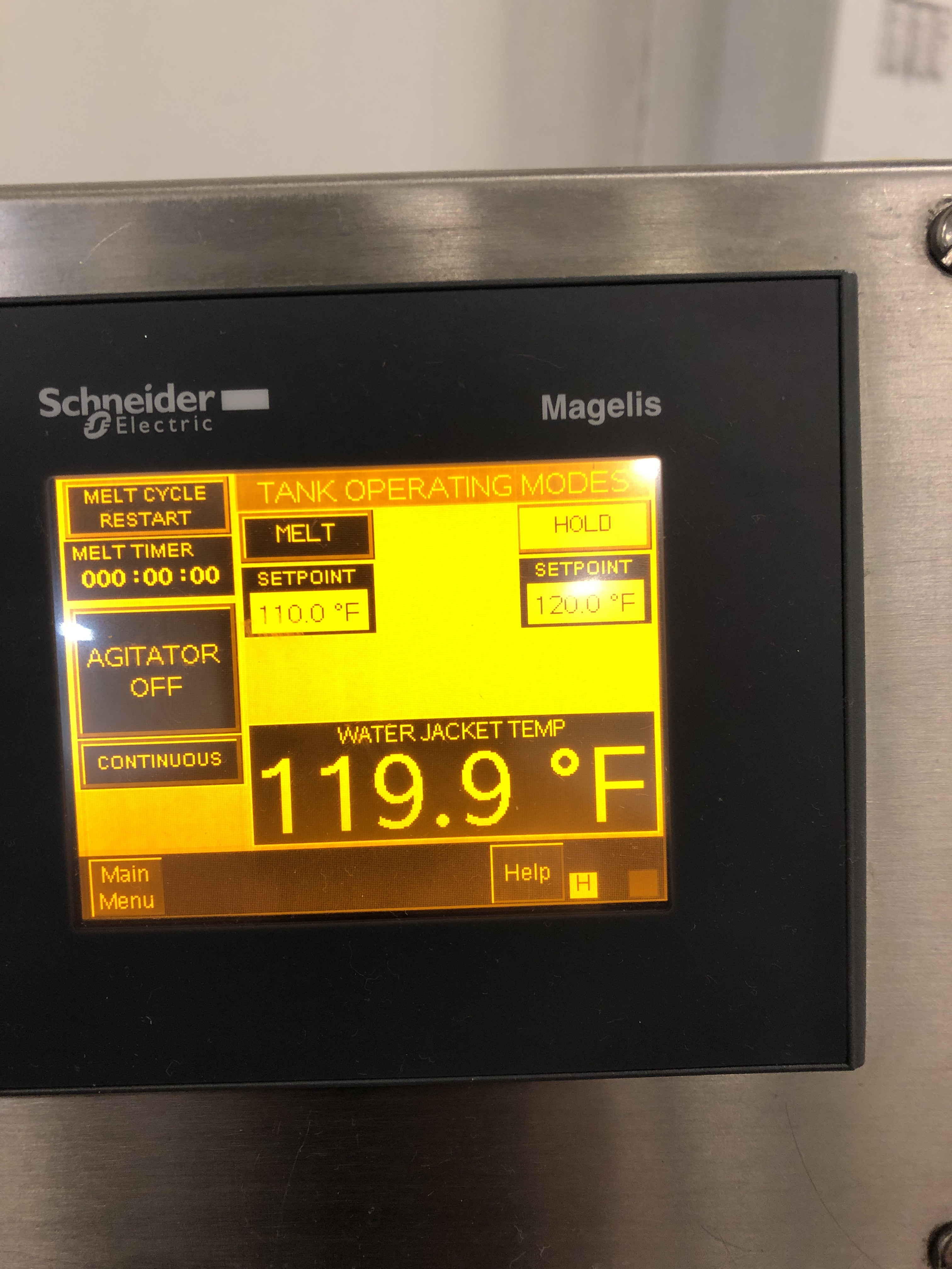 Lot 27 - Savage 50-lb Stainless Steel Chocolate Melter, model 0934-40, jacketed and agitated, electrically