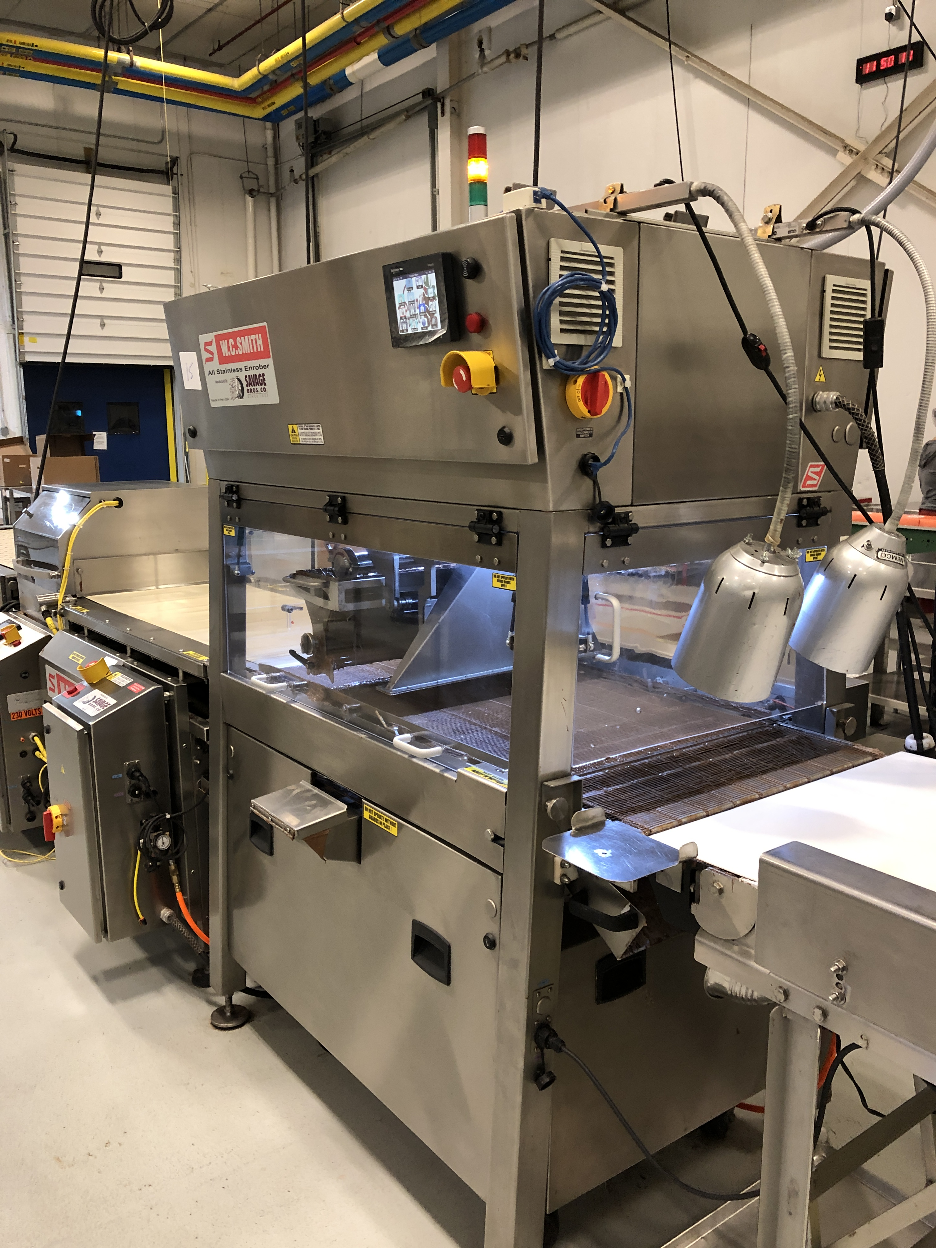 """Lot 12 - Smith 24"""" Stainless Steel Enrobing line – New 2013 - Smith model 5224-49 8-ft long Stainless Steel"""