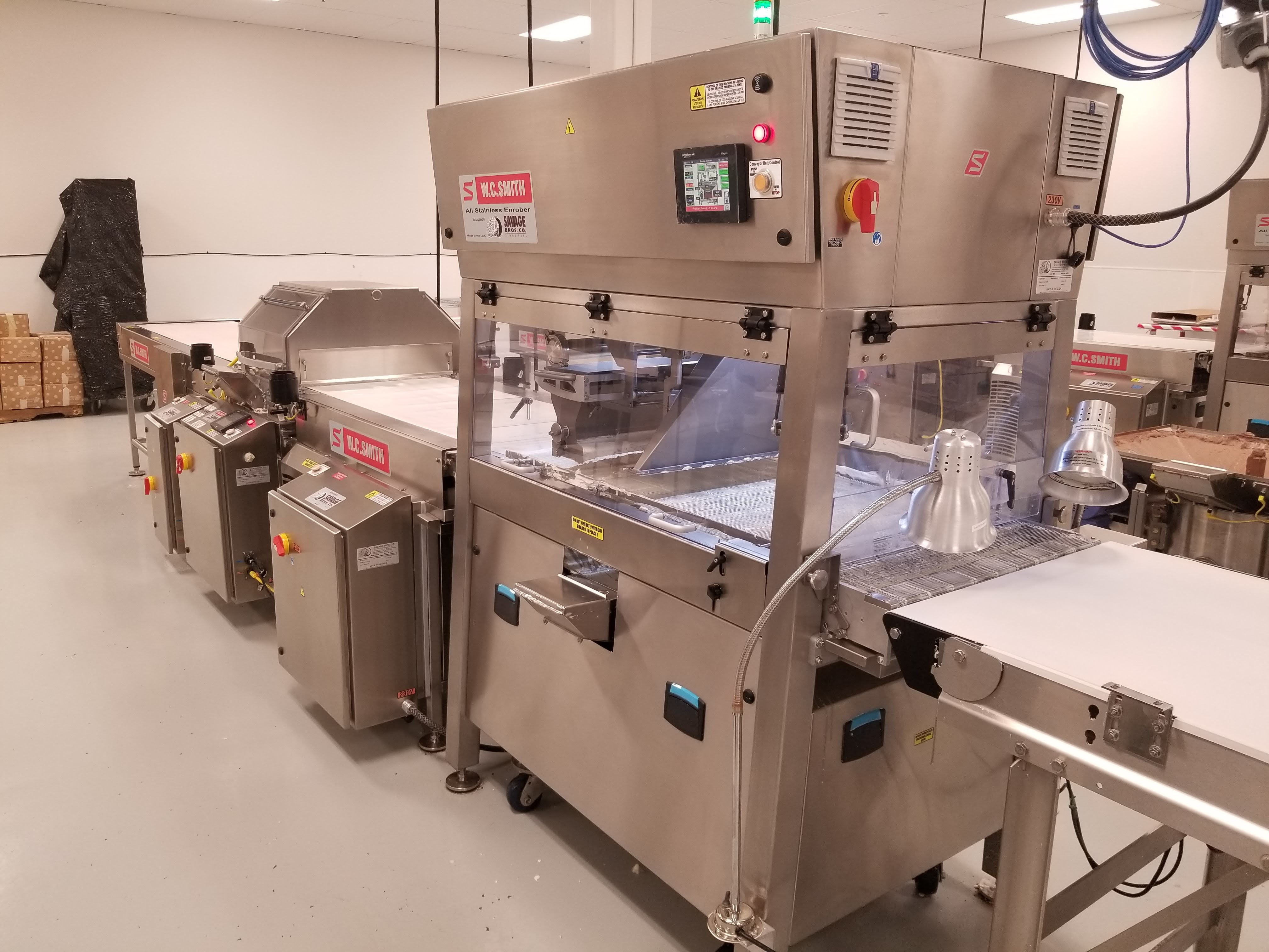 """Lot 21 - Smith 24"""" Stainless Steel Enrobing line – New 2017 - Smith model 5224-49 8-ft long Stainless Steel"""