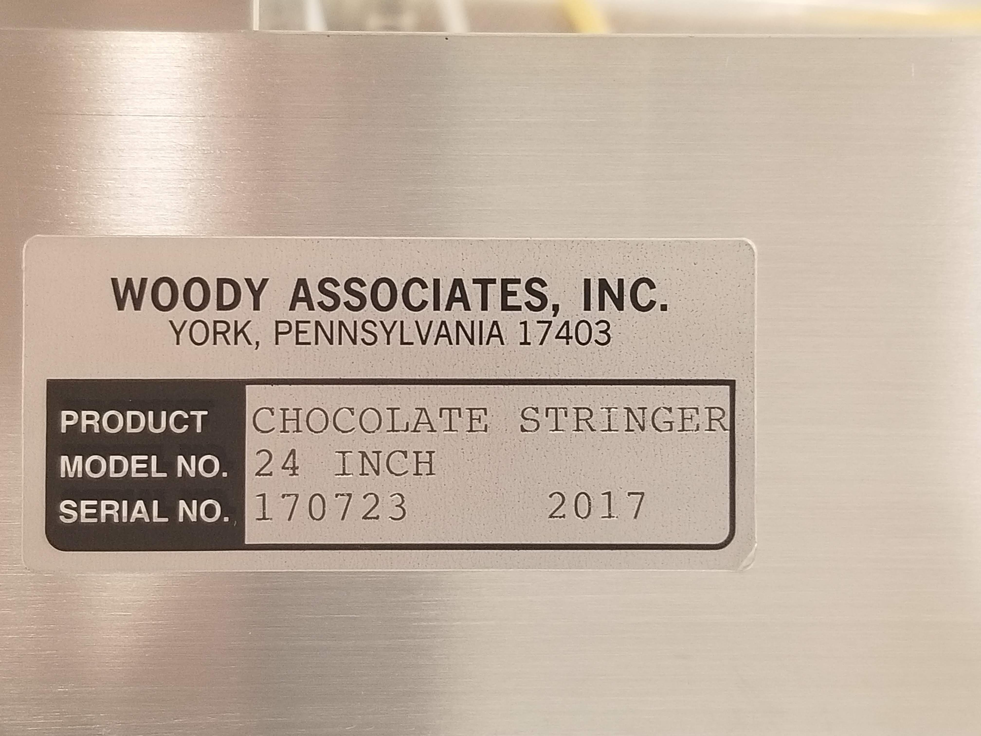 """Lot 18 - Woody 24"""" Stringer with Purge Nozzles and PLC Controls - Custom built to string chocolate"""