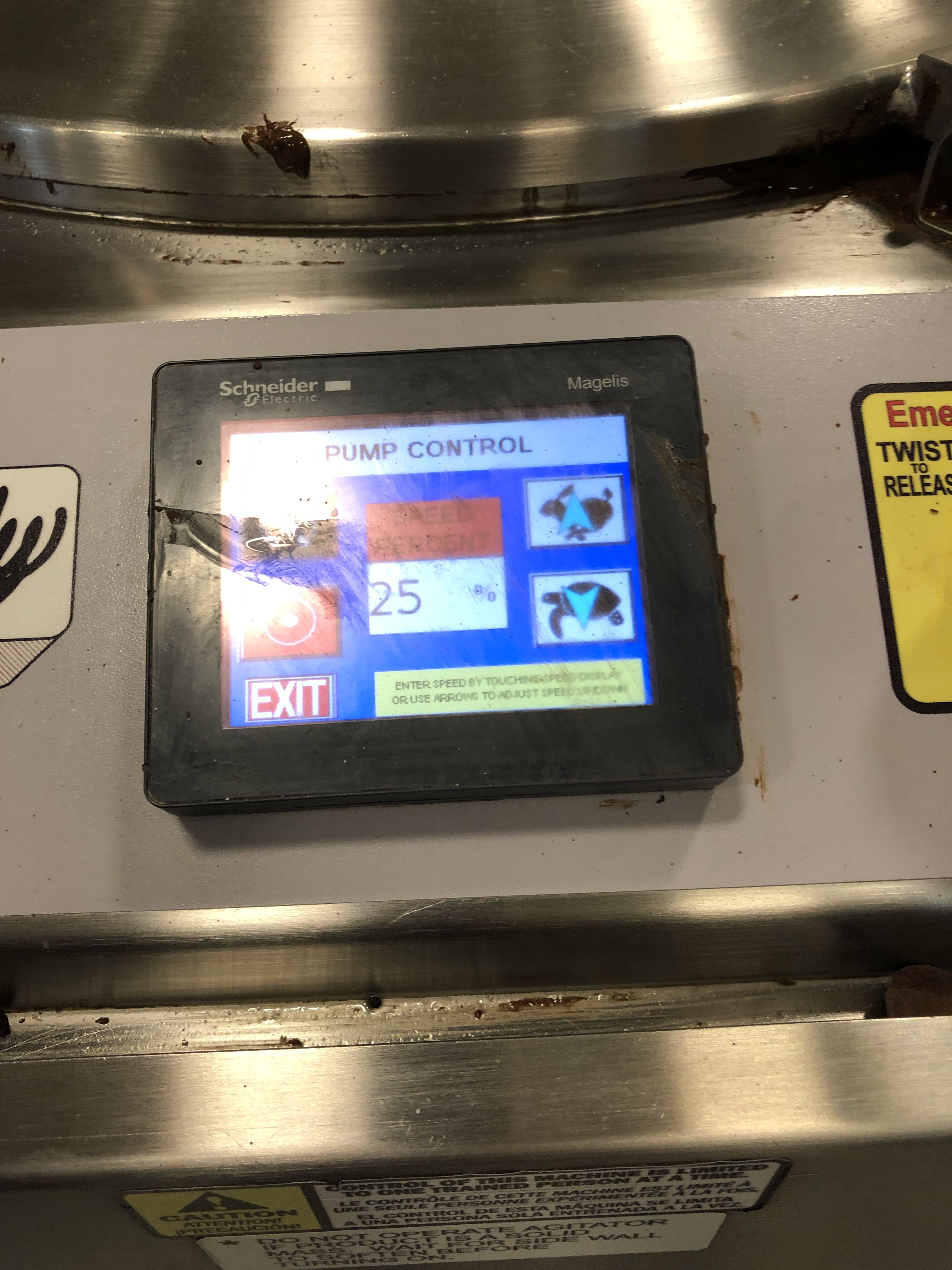 Lot 10 - Savage/Woody 125 lb Stainless Steel Chocolate Melter with Touchscreen controls, jacketed and