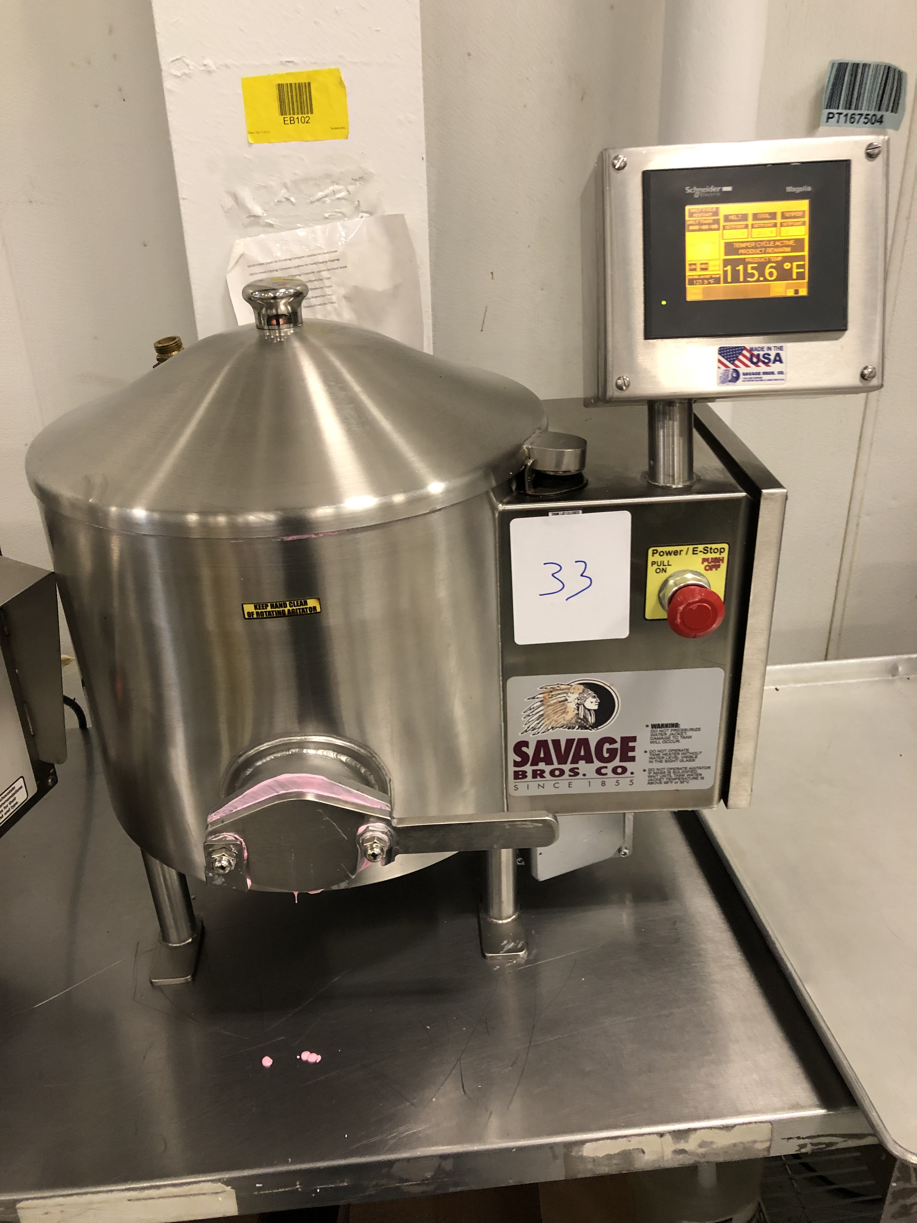 Lot 29 - Savage 50-lb Stainless Steel Auto Tempering Chocolate Melter, model 0934-60