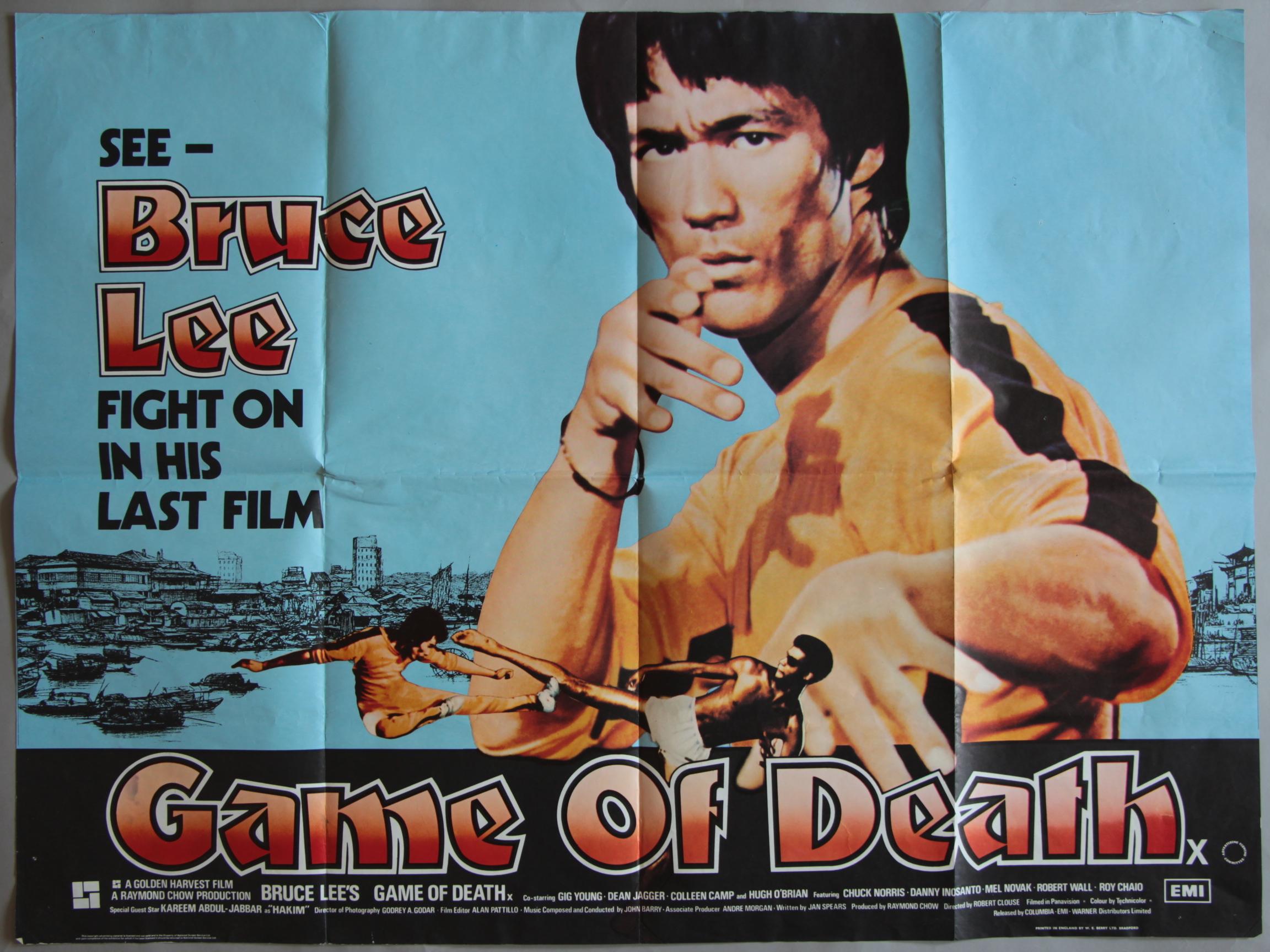 quotgame of deathquot 1978 original british quad film poster