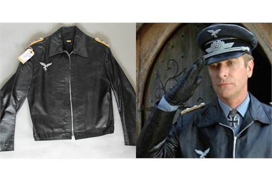 f8f5d650c Michael Caine worn WW2 Nazi faux Leather bomber jacket from the film ...