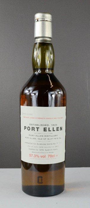 Lot 32 - Port Ellen Isle of Islay natural cask strength single malt whisky, limited edition no.8130, 1979,