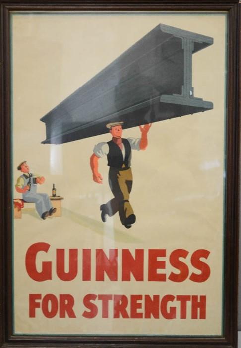Lot 46 - An original Guinness poster, 'Guinness for Strength', 78 by 51cm.